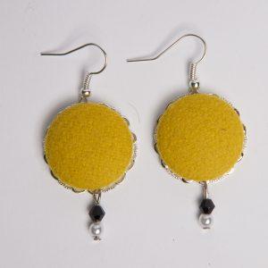 Orecchini pendenti giallo *Nickel free*